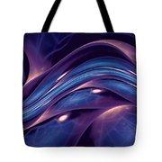 Fractal Wave Blue Purple Tote Bag