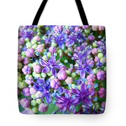 Blue Purple Hydrangea Flower Macro Art Tote Bag