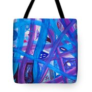 Blue Purple Paths  Tote Bag
