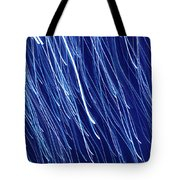 Blue Rain Abstract Tote Bag