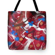 Blue Rain Drops Tote Bag