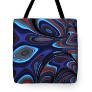 Blue Red Folds Tote Bag