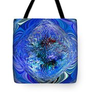 Blue Reflextions Tote Bag