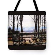 Blue Ridge Mountain Porch View Tote Bag