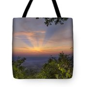 Blue Ridge Mountain Sunset Tote Bag