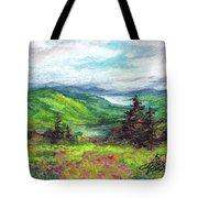 Blue Ridge Mountains Near Asheville Tote Bag