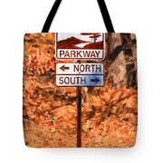 Blue Ridge Parkway Sign Tote Bag