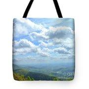 Blue Ridge Parkway Views - Rock Castle Gorge Tote Bag by Kerri Farley