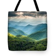 Blue Ridge Southern Appalachian Mountain Light Show Tote Bag
