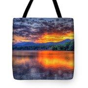 Blue Ridges Lake Junaluska Sunset Great Smoky Mountains Art Tote Bag