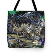Blue Rimmed Fungus Tote Bag
