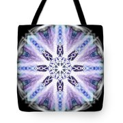 Blue Ring Of Light Tote Bag