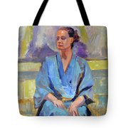 Blue Robe Tote Bag