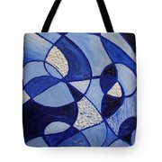 Blue Rollercoaster Tote Bag