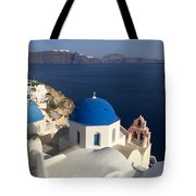 Blue Roofs Tote Bag