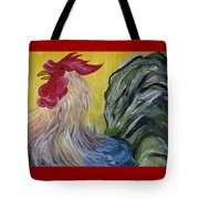 Blue Rooster Tote Bag