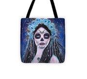 Blue Rosie Tote Bag