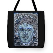 Blue Self Portrait Tote Bag