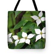 Blue Shadow Dogwood Flowers Tote Bag