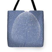 Blue Shadow Tree Tote Bag