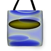 Blue Shapes  Tote Bag