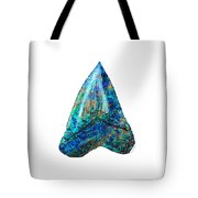 Blue Shark Tooth Art By Sharon Cummings Tote Bag