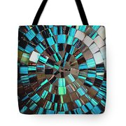 Blue Shiny Stones Gems In A Circular Pattern Tote Bag