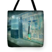 Blue Shopper Tote Bag