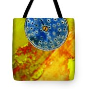 Blue Shower Head Tote Bag by Skip Hunt