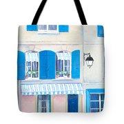 Blue Shutters Arles France Tote Bag