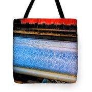 Blue Silk Machine Tote Bag