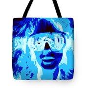 Blue Skier Bob Tote Bag