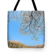 Blue Skies And Dogwood Tote Bag