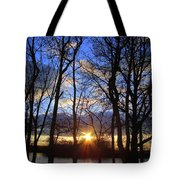 Blue Skies And Golden Sun Tote Bag
