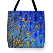 Blue Skies And Last Leaves Of Fall Tote Bag
