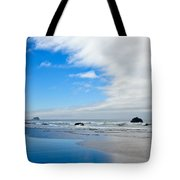 Blue Sky Beaches Tote Bag