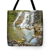 Blue Skies Over Ithaca Falls Tote Bag