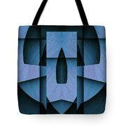 Blue Skull Tote Bag