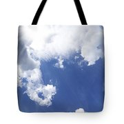 Blue Sky And Cloud Tote Bag