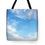 Blue Sky And Clouds Abstract Tote Bag