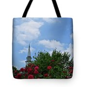 Blue Sky And Roses Tote Bag