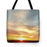 Blue Sky And Sunrise Tote Bag