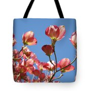 Blue Sky Art Prints Pink Dogwood Flowers 16 Dogwood Tree Art Prints Baslee Troutman Tote Bag