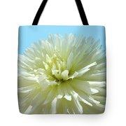 Blue Sky Art White Dahlia Flower Floral Prints Baslee Troutman Tote Bag