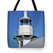 Blue Sky At The Lighthouse Tote Bag