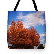 Blue Sky Autumn Tote Bag