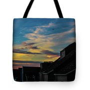 Blue Sky Colorful Sunset Tote Bag