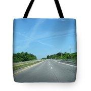 Blue Sky Empty Road Tote Bag