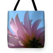 Blue Sky Floral Art Print Pink Dahlia Flower Baslee Troutman Tote Bag