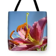 Blue Sky Florals Art Pink Calla Lily Blooming Baslee Troutman Tote Bag